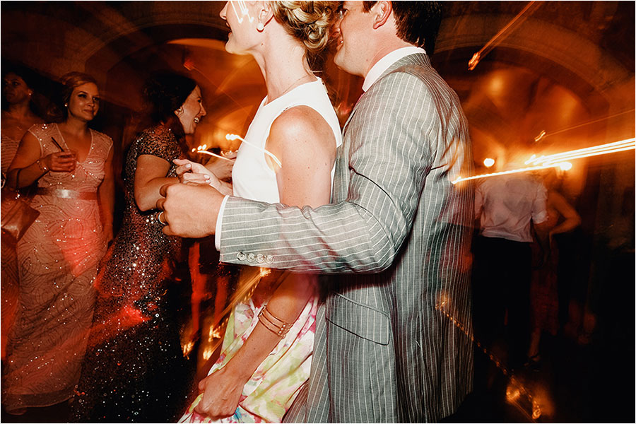 couple dances on dance floor at fairmont banff springs