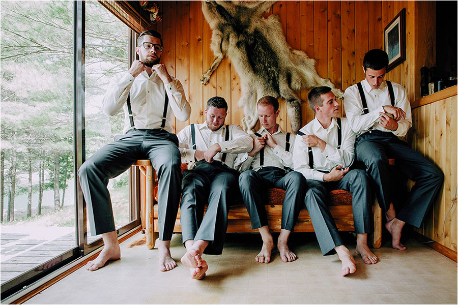 groomsmen dress for wedding on manitoulin island