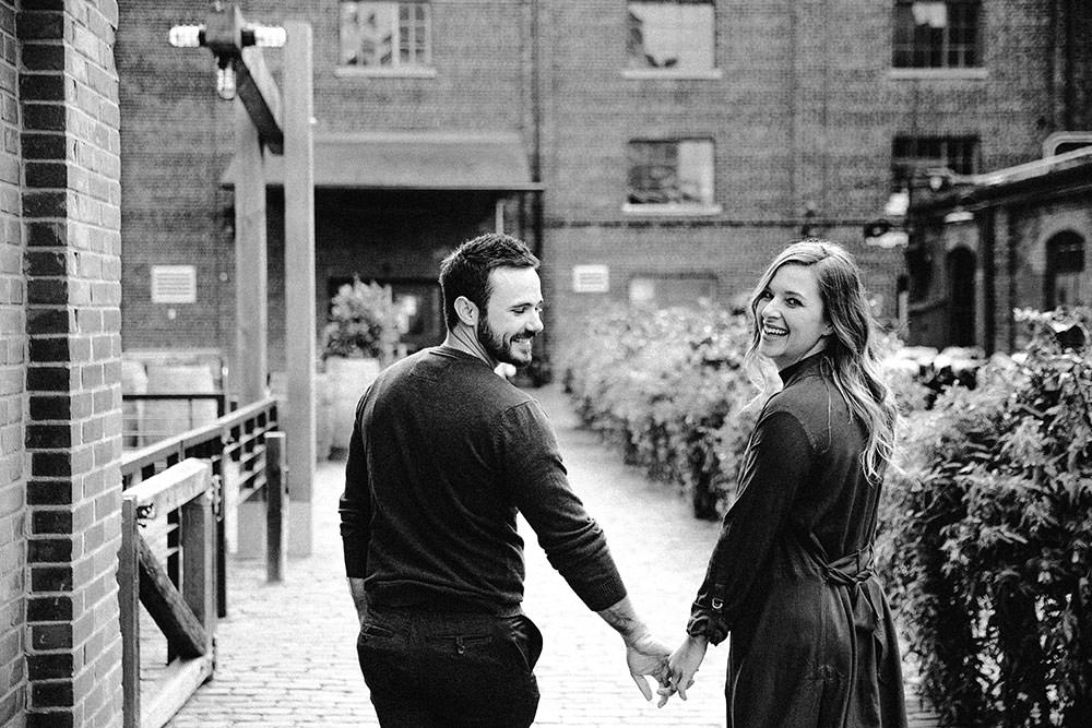 Toronto Engagement Photography Distillery District