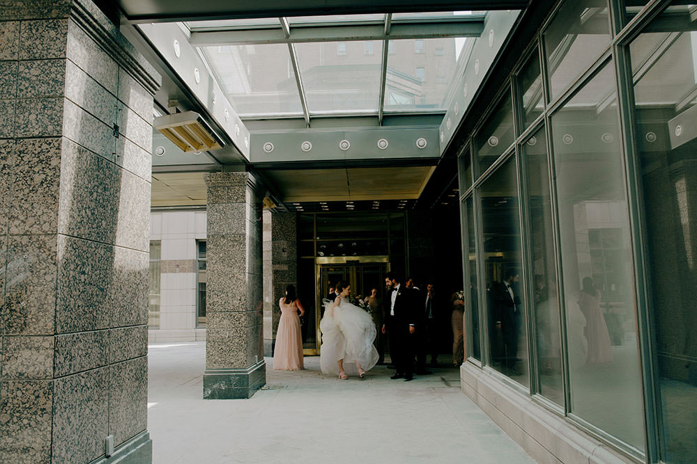 bridal party in downtown toronto