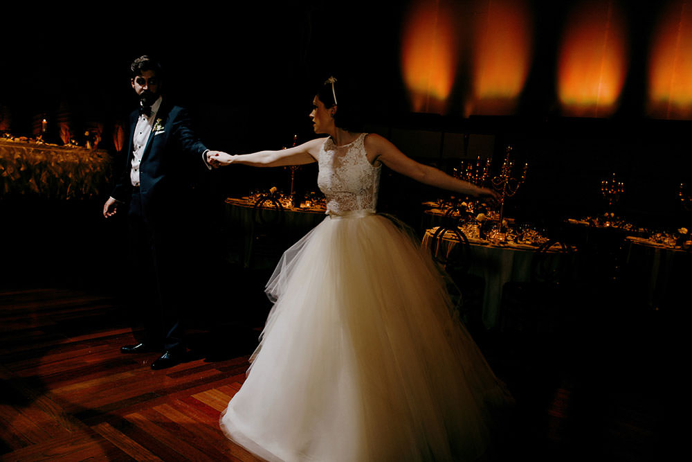 bride and groom first dance at eglinton grand toronto