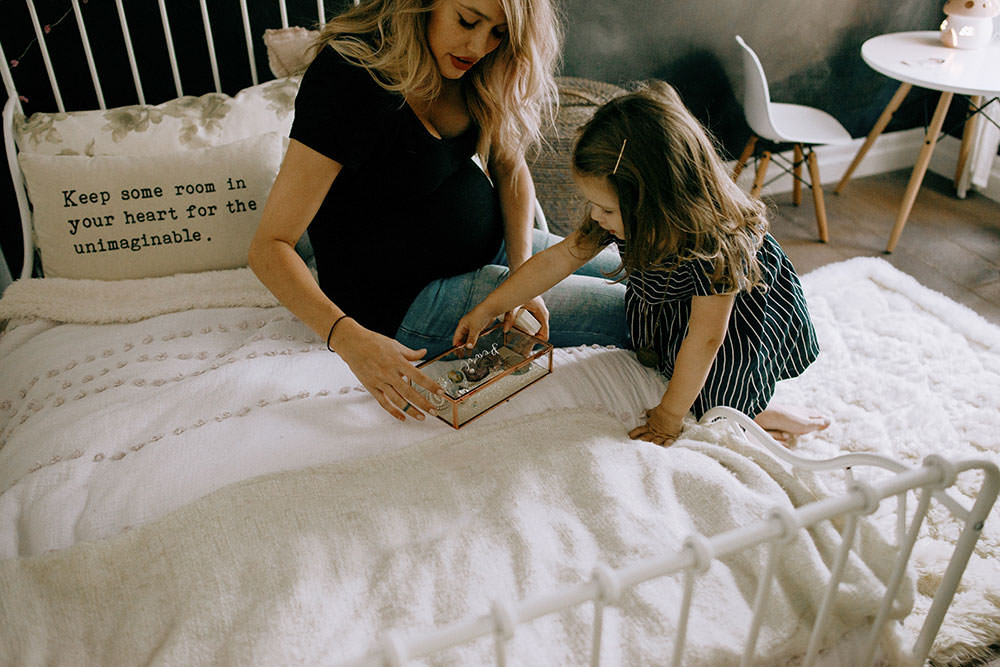 mom and daughter spend time