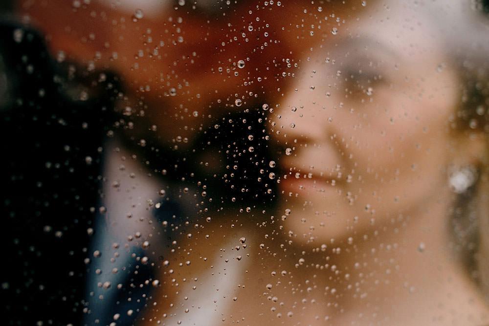 rain on window at the Belcroft estates