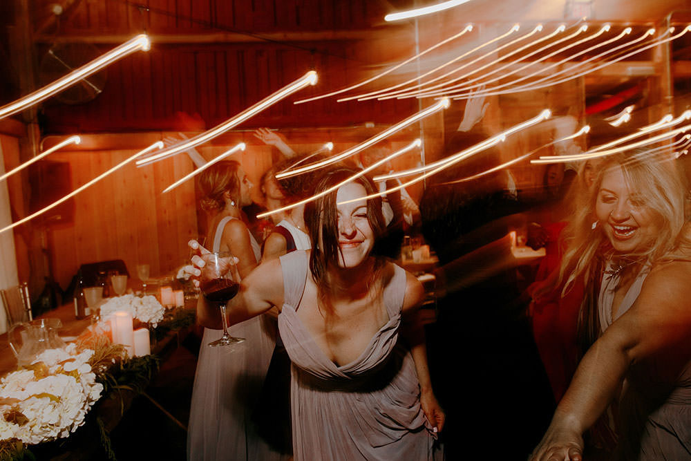 dance party at wedding reception at Belcroft estates