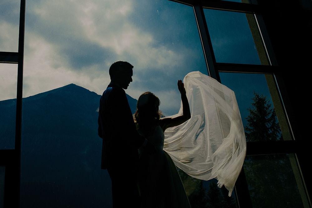 veil flies at the Fairmont Chateau Lake Louise