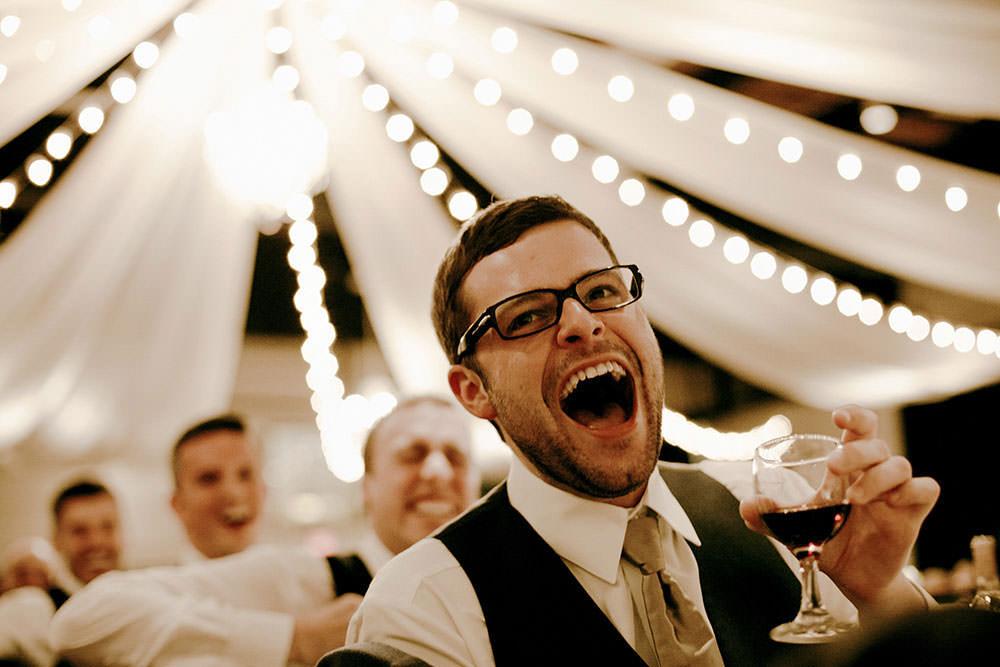 Big Laugh at wedding speech in Sudbury