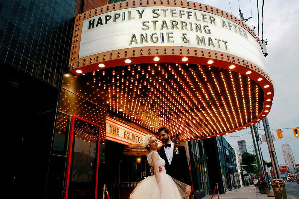 Bride & Groom Portrait at Eglinton Grand Toronto Wedding