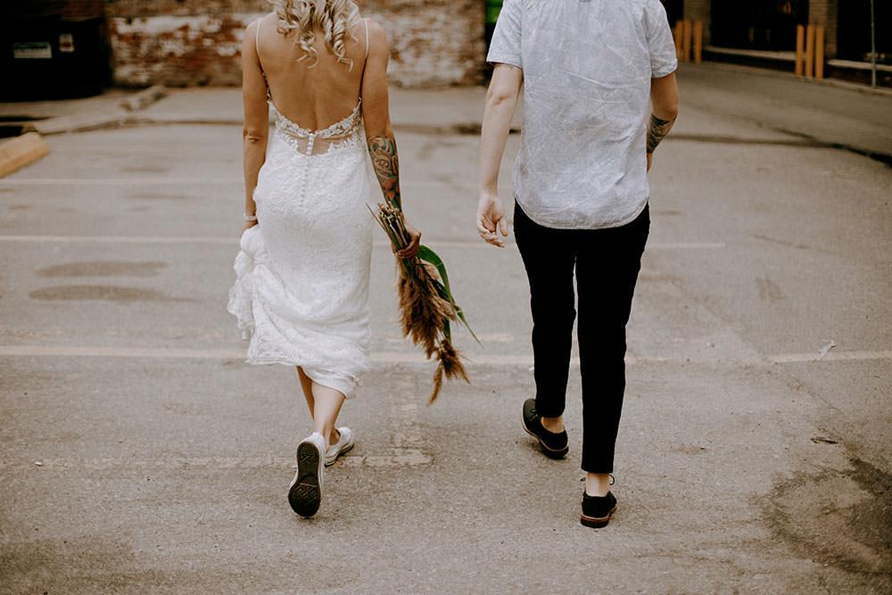 same sex wedding in streets of toronto