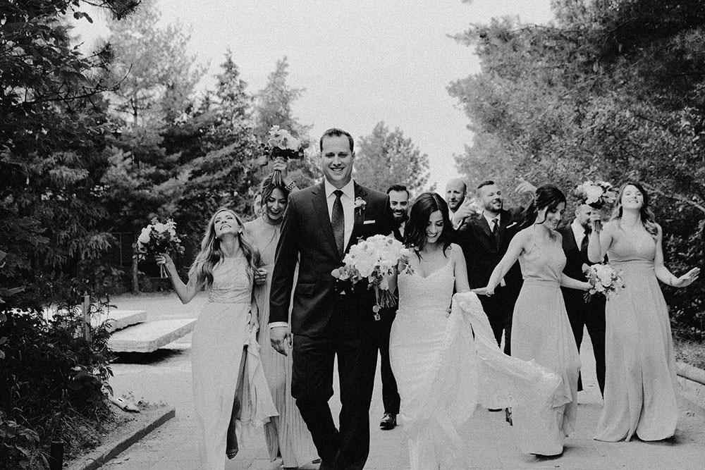 bridal party candid ontario wedding photography