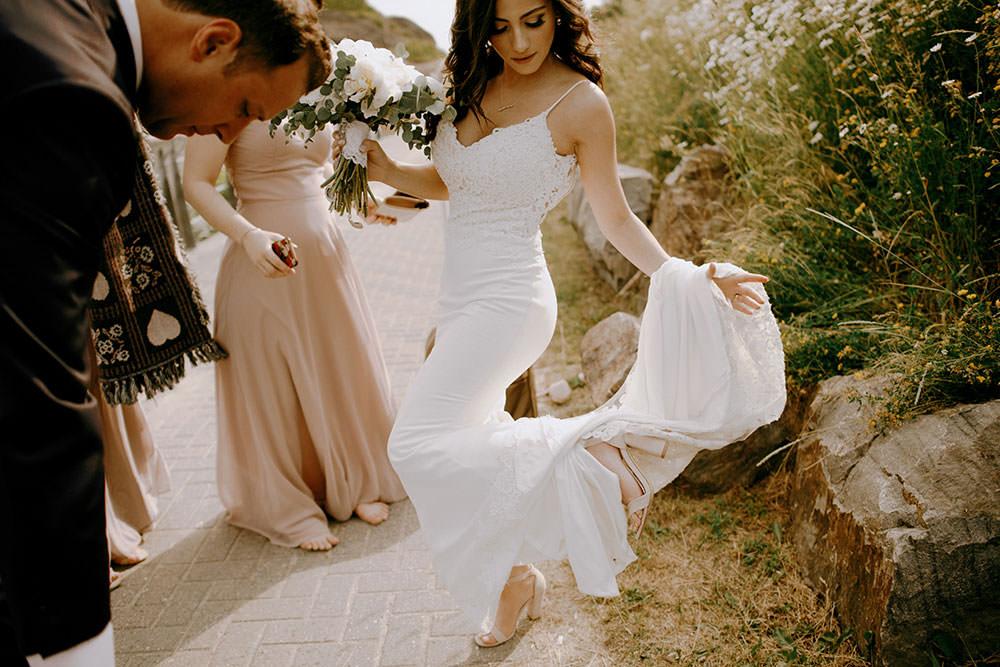 science north bride and groom portrait ontario wedding photography