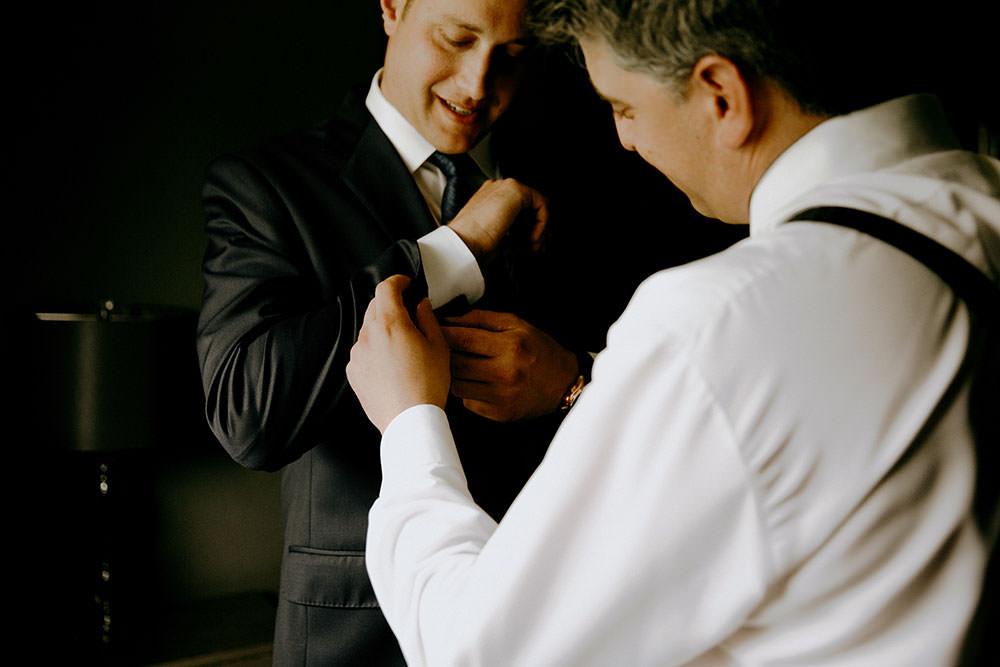 groom getting ready ontario wedding photography