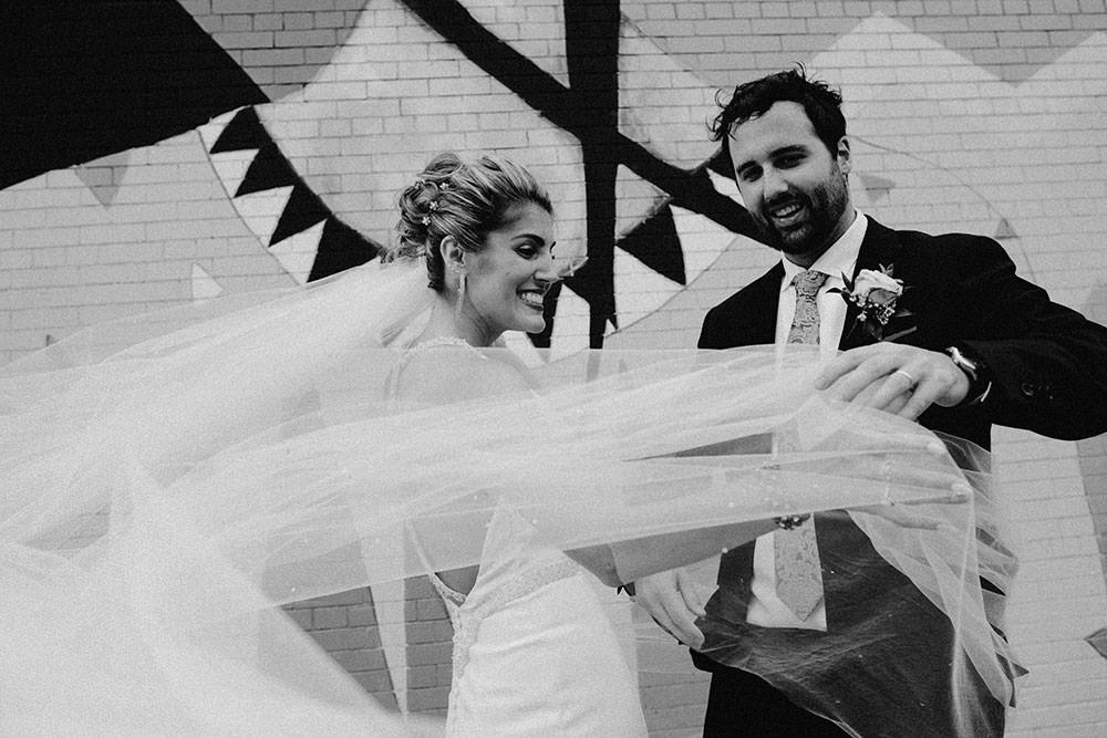 sudbury wedding photography bride and groom walking