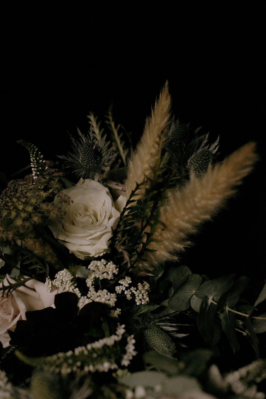 detail photograph of wedding bouquet