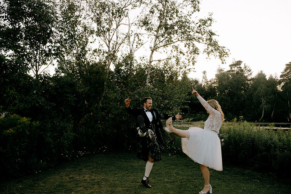bride and groom dance at idylwylde wedding