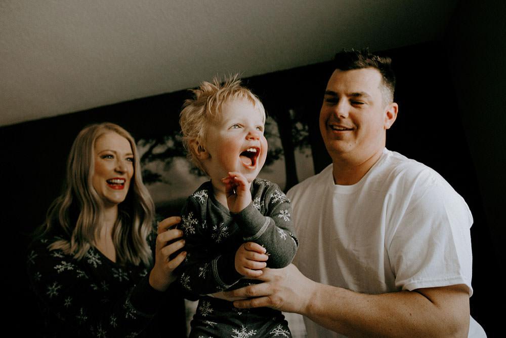 sudbury winter family portrait
