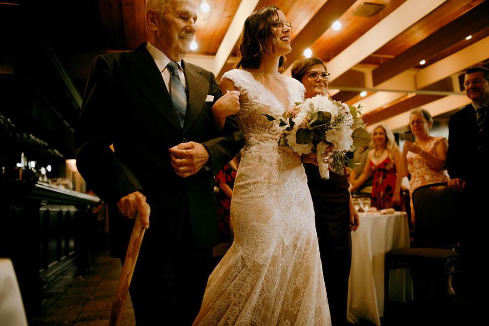 idylwylde wedding bride walking down aisle