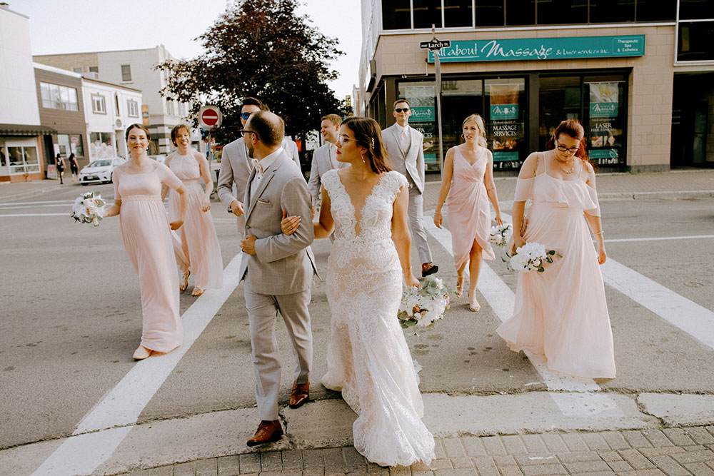 sudbury wedding party in downtown up here festival
