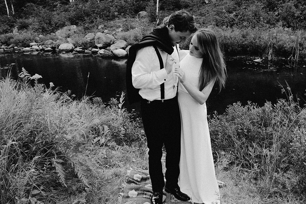 sudbury wedding bride and groom holding one another