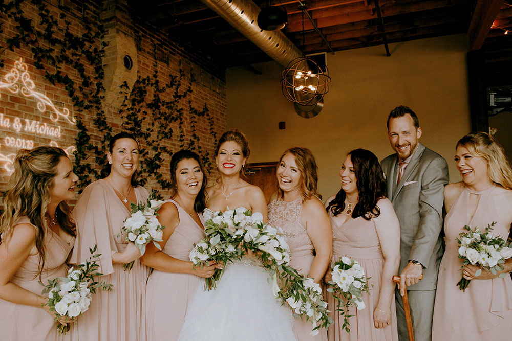 Paris Ontario Wedding party celebrate candidly
