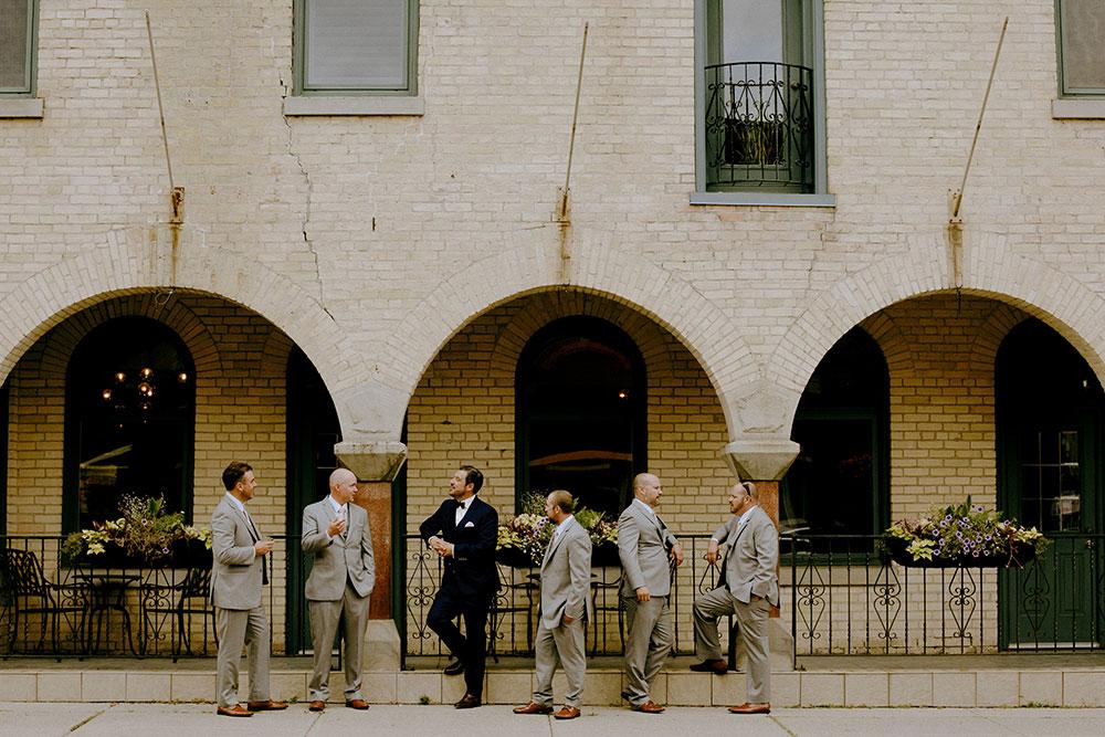 Paris Ontario Wedding grooms men candid