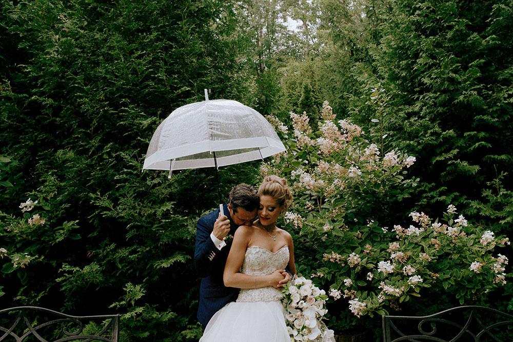 Paris Ontario Wedding bride and groom get close