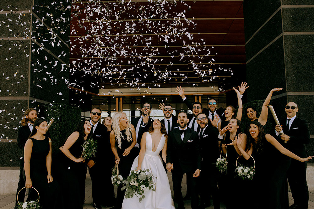 vaughan bridal party confetti pop