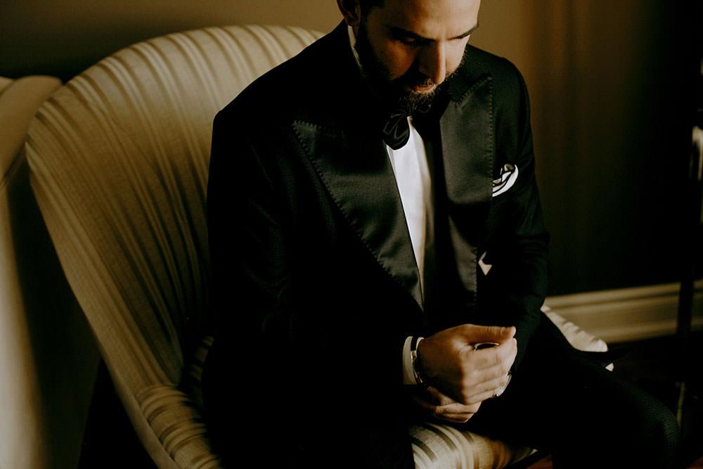 vaughan ontario wedding groom getting ready