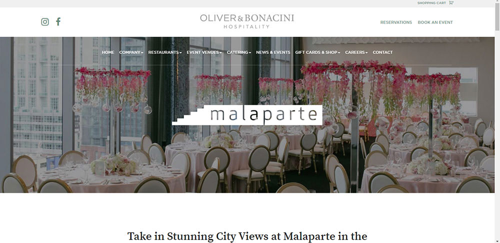 Malaparte Toronto Wedding Venue
