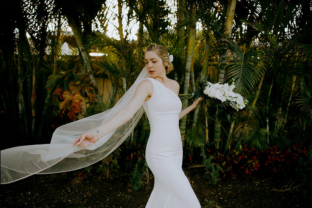 Royalton Riviera Cancun Wedding bride portrait