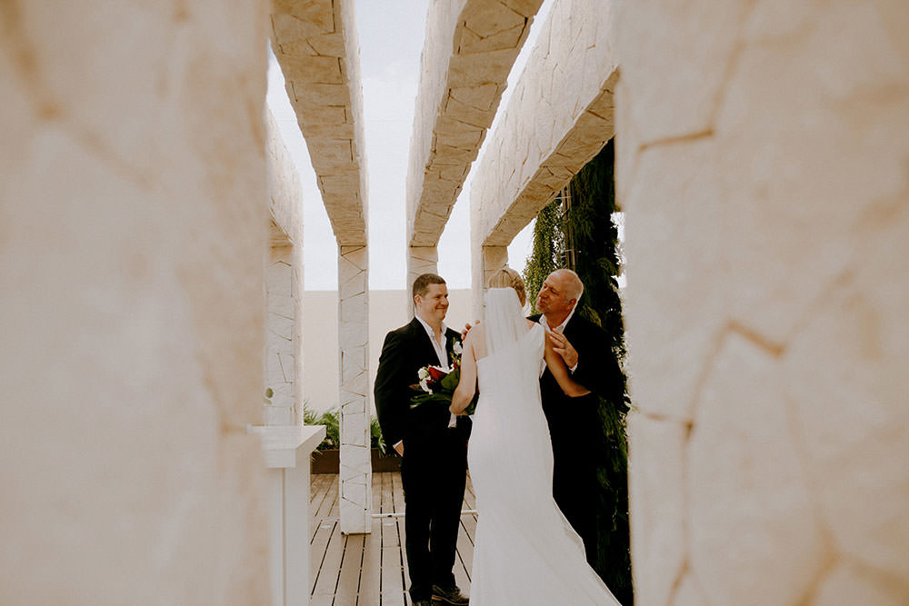 Royalton Riviera Cancun Wedding couple getting married