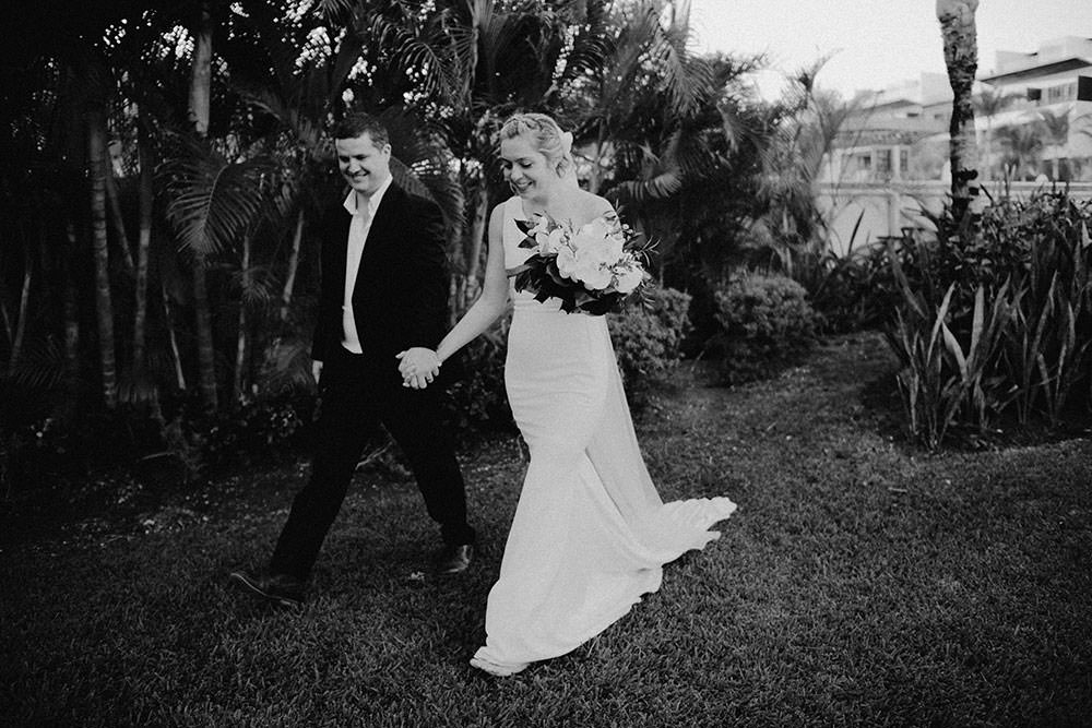 Royalton Riviera Cancun Wedding couple walk candidly together