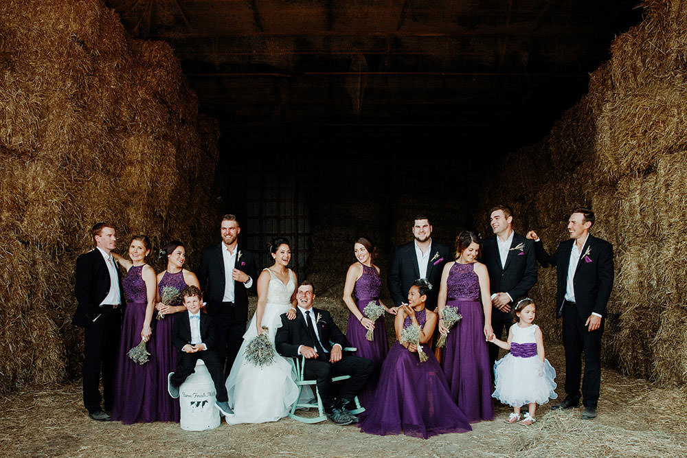 ottawa bridal party laughs together