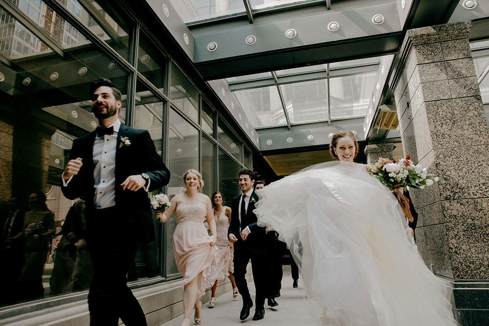 toronto bridal party run energetically