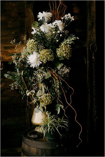 amazing floral arrangement in innisfil Ontario wedding